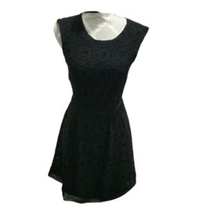 UO Kimchi blue black lace and crocheted type dress